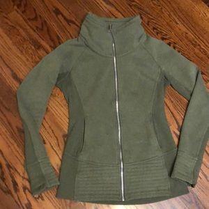 Lululemon womens green zip up jacket 8 yoga spring